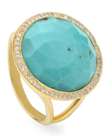 Turquoise Lollipop Ring, Mini