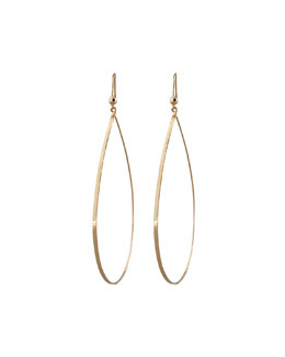 Lana Gold Flat Teardrop Earrings, Large