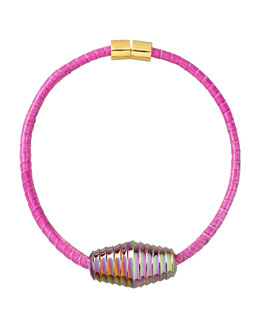 Eddie Borgo Scaled Choker Necklace, Pink