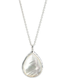 Sterling Silver Teardrop Pendant Necklace, Mother-of-Pearl