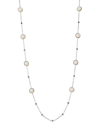 Lollipop Mini-Station Necklace, Mother-of-Pearl