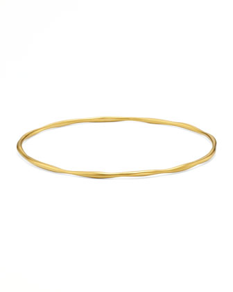 18K Gold Matte Squiggle Bang