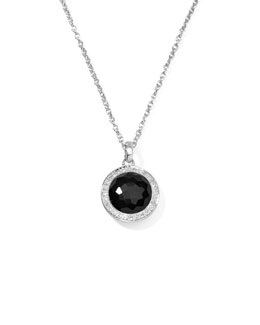 Ippolita Lollipop Diamond Bezel Onyx Pendant Necklace