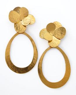 Herve Van Der Straeten Hammered Gold Petal Earrings