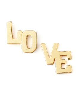 Jennifer Zeuner Love Stud Earrings