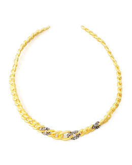 Alexis Bittar Cordova Antiqued Collar Necklace, Golden