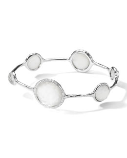 Ippolita Stella Bangle in Mother-of-Pearl Doublet with Diamonds