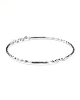 Ippolita Sterling Silver 2-Station Diamond Bangle