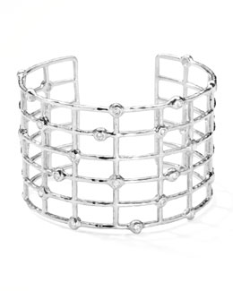 Ippolita Sterling Silver #2 Cuff with Diamonds