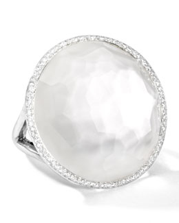 Ippolita Stella Large Lollipop Ring in Mother-of-Pear Double with Diamonds