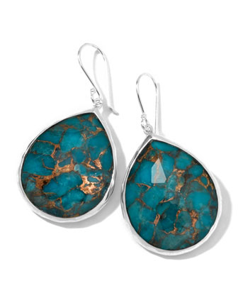 Wonderland Turquoise Teardrop Earrings