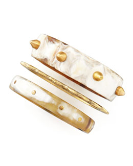 Ashley Pittman Mwanga Bangles, Set of Three