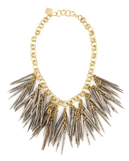 Ashley Pittman Dark Quill-Bead Necklace