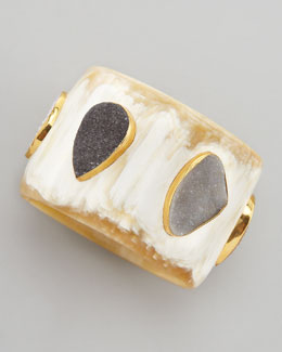 Ashley Pittman Druzy Station Horn Bangle