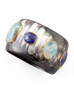 Ashley Pittman Angani Lapis Horn Bangle