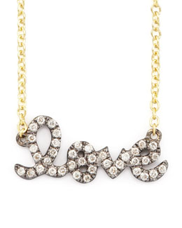 Sydney Evan Two-Tone Diamond Love Necklace