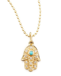 Sydney Evan Diamond Hamsa Necklace