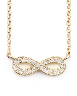 Sydney Evan 14k Gold Diamond Infinity Pendant Necklace