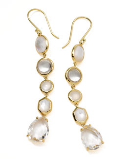 Ippolita 18k Gold Rock Candy Gelato 5-Tier Drop Earrings, Flirt
