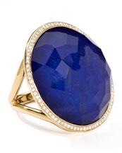 Ippolita Rock Candy Large Lollipop Diamond Lapis Ring