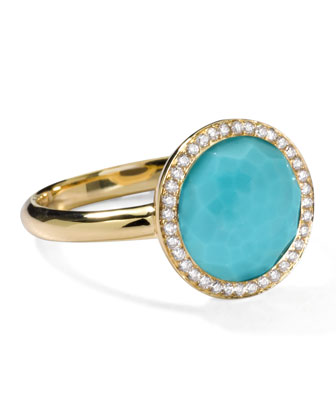 Rock Candy Mini Lollipop Diamond Turquoise Ring