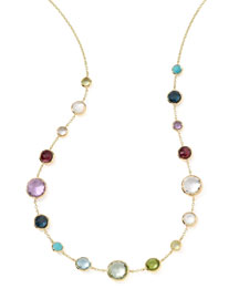 18k Gold Lollitini Multi-Stone Necklace, 18