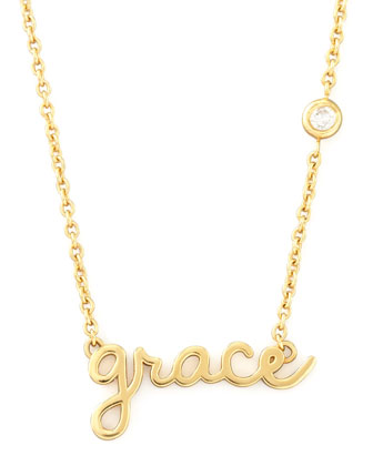 Grace Pendant Bezel Diamond Necklace