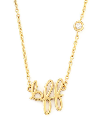 BFF Pendant Bezel Diamond Necklace