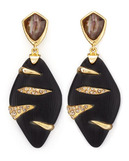 Alexis Bittar Durban Lucite Earrings, Black