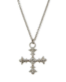 New World Diamond Cross Pendant Necklace
