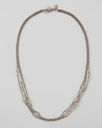 New World 3-Strand Diamond Station Necklace