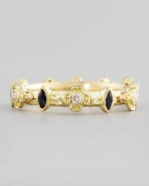 Yellow Gold Diamond & Marquise Sapphire Ring