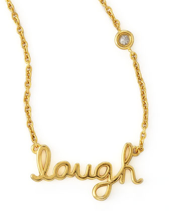 Laugh Pendant Bezel Diamond Necklace