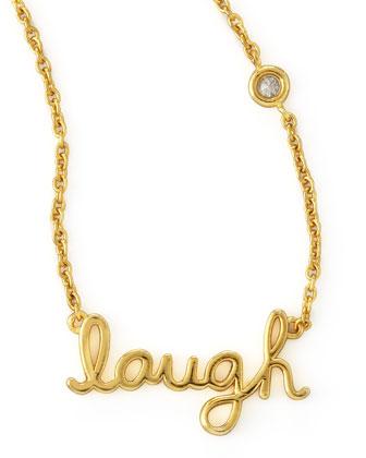 Laugh Pendant Bezel Diamond Necklace