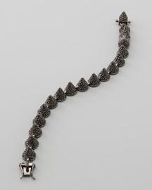 Small Pave Cone Bracelet, Gunmetal
