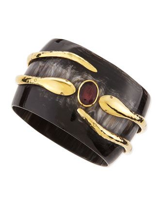 Ruby Pacha Bangle, Dark Horn