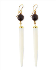 Shasira Garnet & Bone Drop Earrings