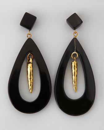 Heleni Earrings, Dark Horn