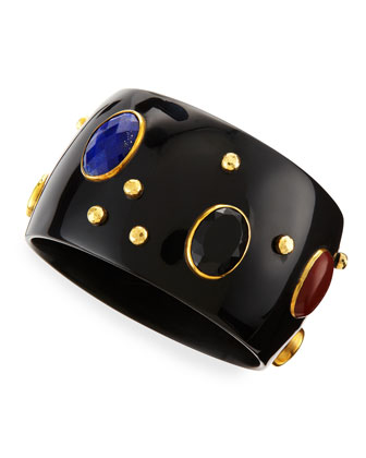 Multi-Stone Kutona Dark Horn Bangle