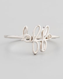 BFF Diamond Silver Ring