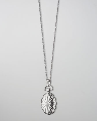 Petite Sunburst Locket Necklace