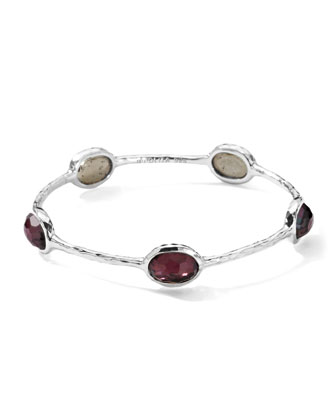 Wonderland Silver Five-Station Bangle, Boysenberry