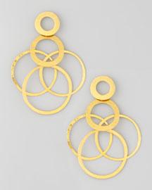 Interlocked-Hoops Drop Earrings