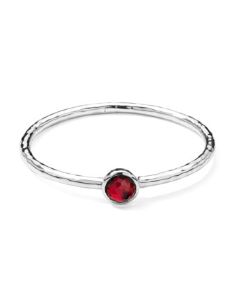 Sterling Silver Wonderland Hinge Bangle in Strawberry