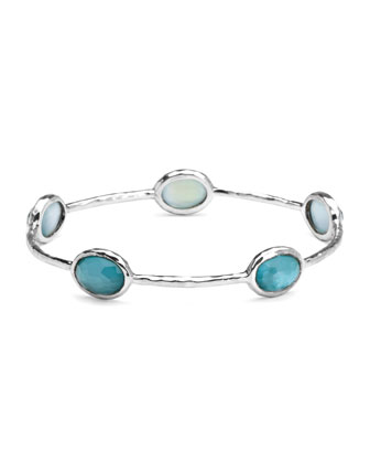 Sterling Silver Wonderland 5-Stone Bangle in Denim