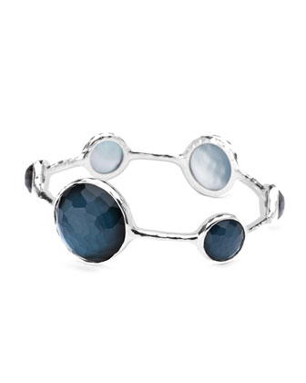 Sterling Silver Wonderland Lollipop Bangle in Indigo