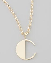 Letter Charm Necklace, C