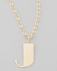 Letter Charm Necklace, J