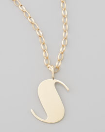 Letter Charm Necklace, S