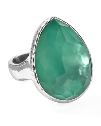 Sterling Silver Wonderland Teardrop Ring in Mint